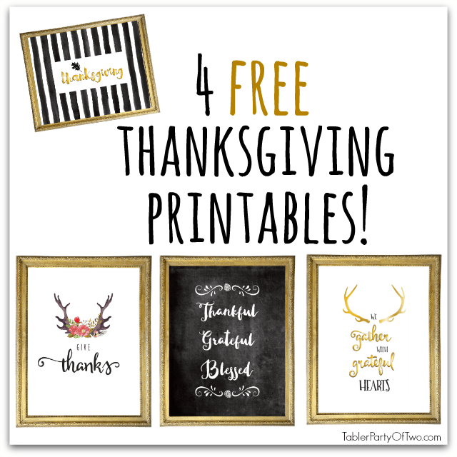 Super Cute FREE Fall Printables! TablerPartyofTwo.com