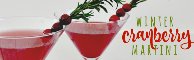 Winter Cranberry Martini