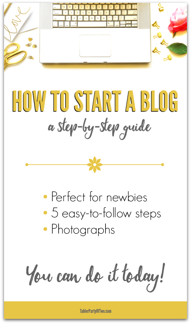 How to start a blog TODAY! This step-by-step guide with photographs will lead you through the process seamlessly. Don't put it off any longer. It's time to share your heart, your ideas and your expertise with the world!