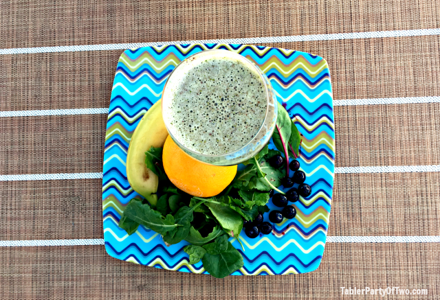 A green smoothie each day is one way I stay on track with health and fitness! TablerPartyOfTwo.com