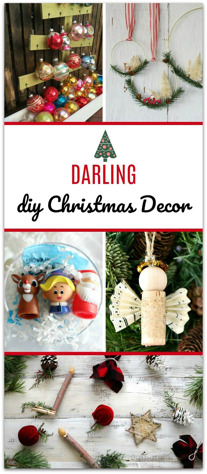 Check out these darling DIY Christmas decor ideas! All of these easy projects will help bring good tidings and cheer to you home. :) TablerPartyofTwo.com