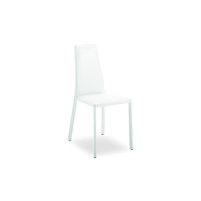 Chaise Cuir Design TOULOUSE Blanche Et Vente De Chaises