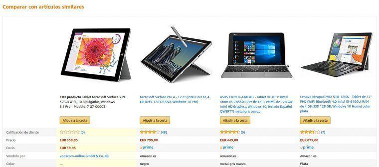 comparar tablets