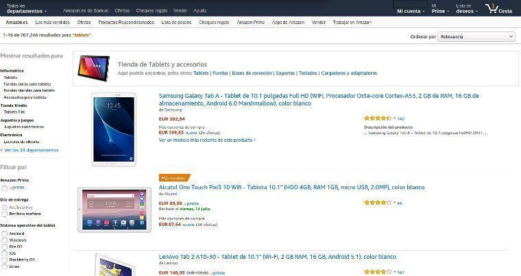 Comparar tablets 10''