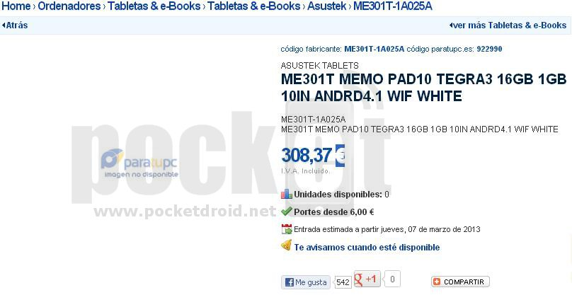ASUS ME301T MeMo Pad10
