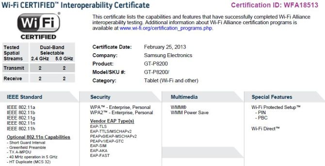Samsung Galaxy Tab 3 Plus Wlan