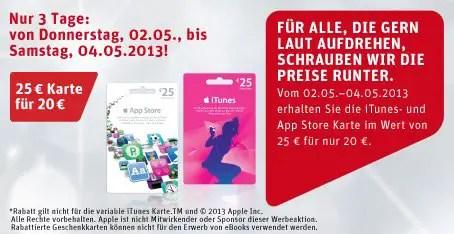 iTunes Gutscheinkarten Rewe