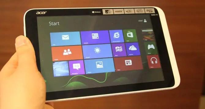 Acer Iconia W3 Test