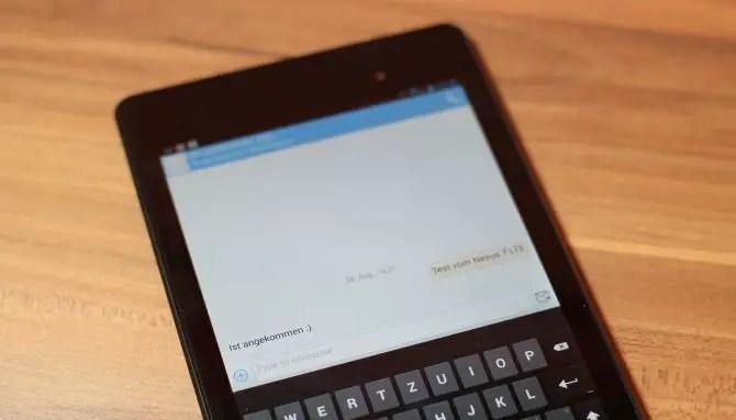 Nexus 7 LTE SMS und telefonieren
