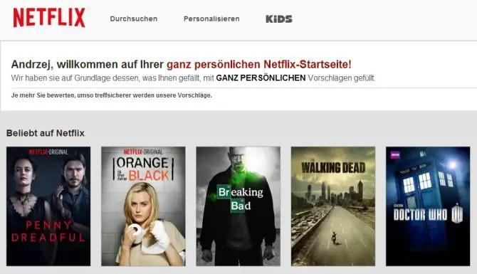 Netflix Serien Vorschlagen