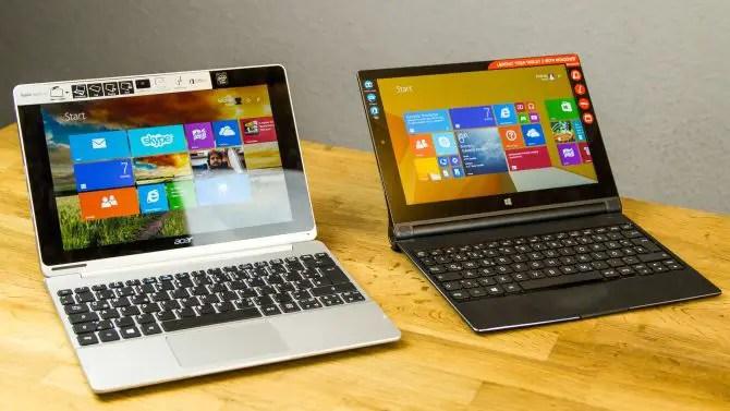 Lenovo Yoga Tablet 2 Vergleich mit Acer Aspire Switch 10