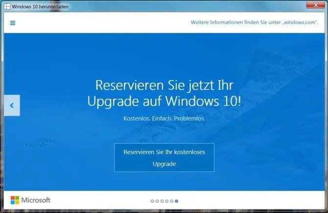 Windows 10 Update Aufforderung