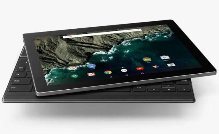 Google Pixel C mit Tastatur Dock
