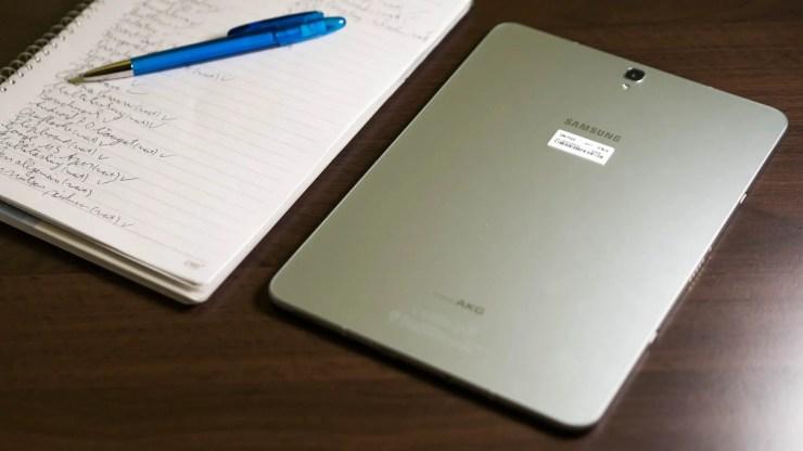 Samsung Galaxy Tab S3 Glasrückseite