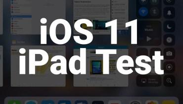 iOS 11 iPad Test