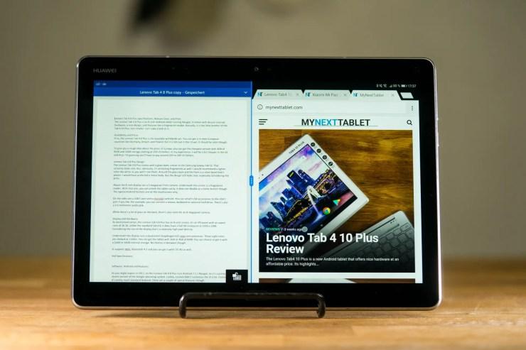 Huawei MediaPad M3 Lite 10 mit MultiWindow in Android Nougat