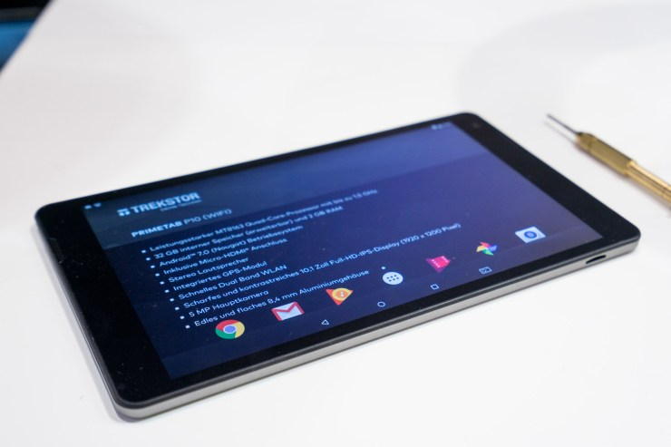 TrekStor Primetab P10 mit FullHD-Display