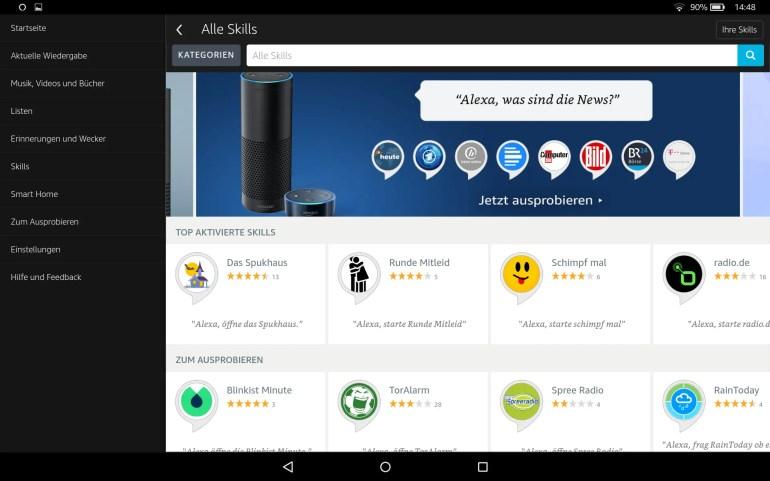 Amazon Fire HD 10 mit Alexa Hands-free Update
