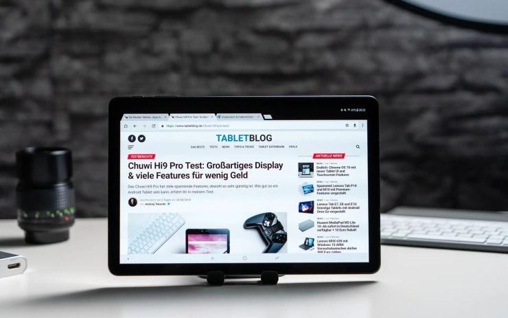 Samsung Galaxy Tab S4 mit Chrome