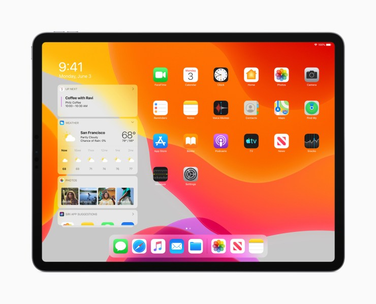 iPadOS Homescreen
