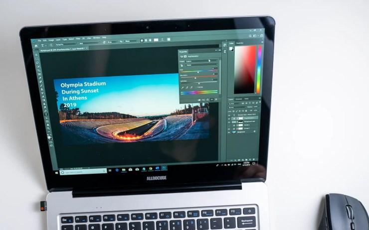 Alldocube KBook mit Photoshop
