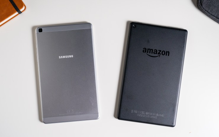 Samsung Galaxy Tab A 8 vs Amazon Fire HD 8 Design