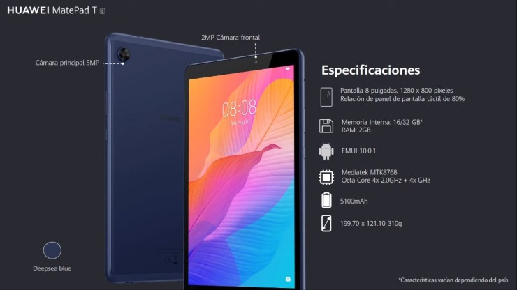 Huawei MatePad T8 Kameras