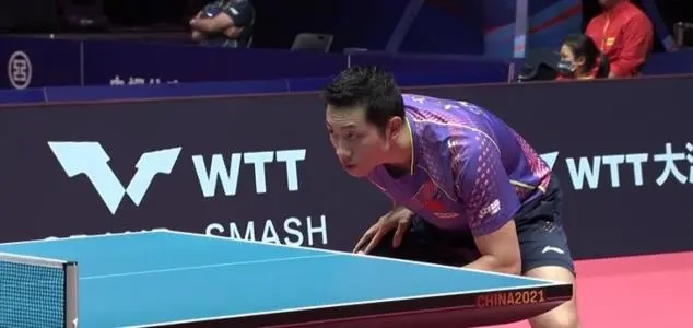 Ready stance in table tennis of xu xin