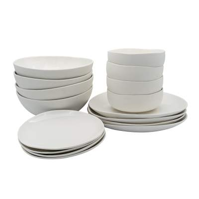 Servies set 16 delig Wit Leeff 1080