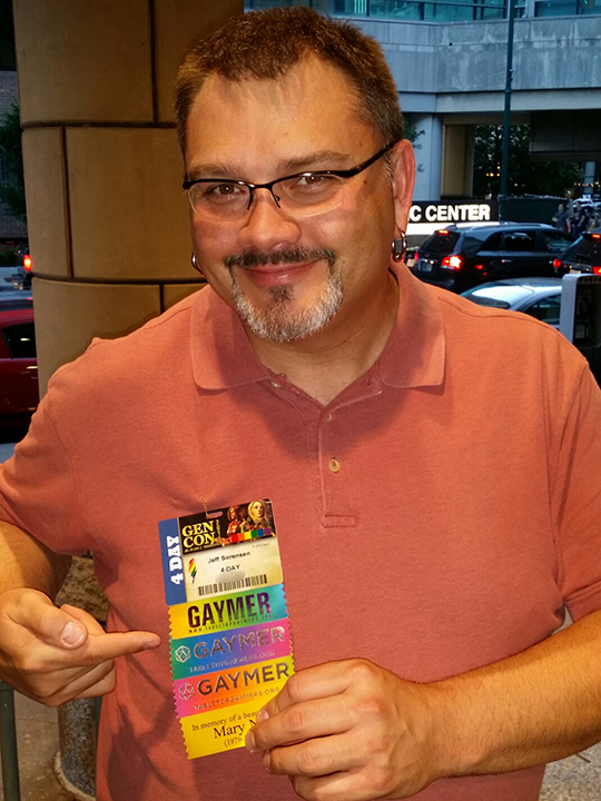 Jeff with Legacy Badge Ribbons