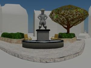 City square statue