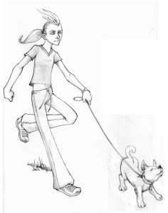Sofie and dog