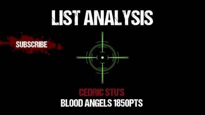 List Analysis: Cedric Stu's Blood Angels 1850pts