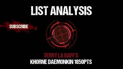 List Analysis: Terry La Baff's Khorne Daemonkin 1850pts