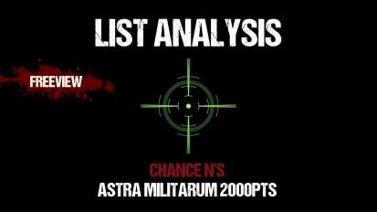 List Analysis: Chance N's Astra Militarum 2000pts