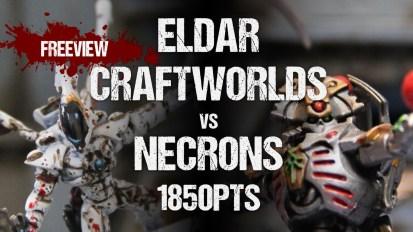 Warhammer 40,000 Battle Report: Eldar Craftworlds vs Necrons 1850pts