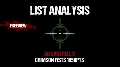 List Analylis: Ad Cantrell's Crimson Fists 1850pts