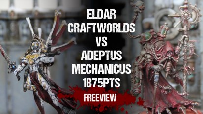 Warhammer 40,000 Battle Report: Eldar Craftworlds vs Adeptus Mechanicus 1875pts