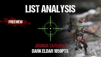 List Analysis: Joshua Taylor's Dark Eldar 1850pts