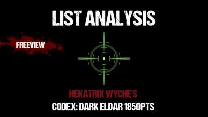 List Analysis: Hekatrix Wyche's Dark Eldar 1850pts