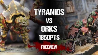 Warhammer 40,000 Battle Report: Tyranids vs Orks 1850pts
