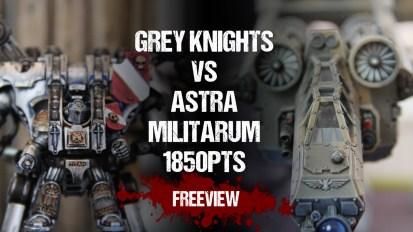 Warhammer 40,000 Battle Report: Grey Knights vs Astra Militarum 1850pts