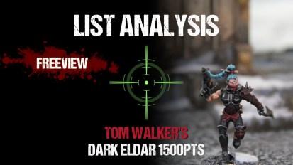List Analysis: Tom Walker's Dark Eldar 1500pts