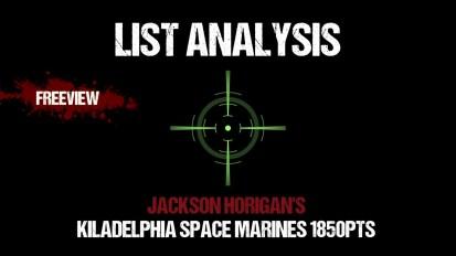List Analysis: Jackson's Kiladelphia Tournament Marines 1850pts