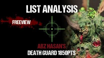 List Analysis: Abz Hasan's Death Guard 1850pts (See Legal List in Description)