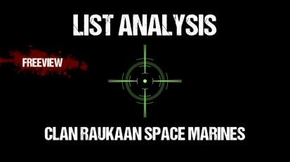 List Analysis: Clan Raukaan Space Marines