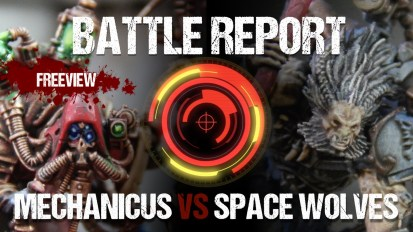Warhammer 40,000 Battle Report: Cult Mechanicus vs Space Wolves 1850pts
