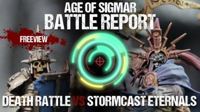 Age of Sigmar Battle Report: Death Rattle vs Stormcast Eternals 1000pts