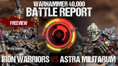 Warhammer 40k No Retreat 4 Battle Report: *NEW* Iron Warriors vs Astra Militarum 1750pts