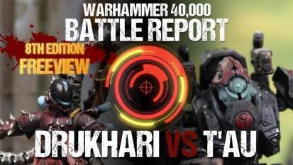 *NEW* Warhammer 40k *8TH EDITION* Battle Report: Drukhari vs T'au 2000pts